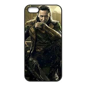 Beautiful Designed Cover Case With Thor Loki Tom Hiddleston Apple iphone 5/5s Phone Case(Black)