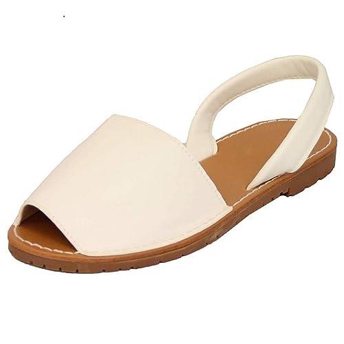 Sandalias Mujeres Verano Planas Zapatos Plataforma Bohemias Playa Mares Romanas Zapatillas Casual Elegante Alpargatas Negro Blanco Rosado 34-44: Amazon.es: ...