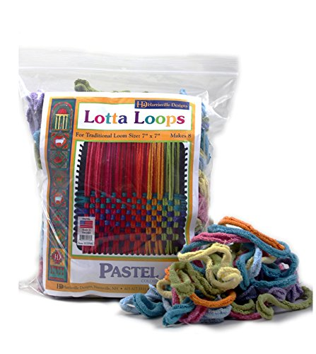 "Harrisville 7"" Pastel Lotta Loops in Assorted Colors – Makes 8 Potholders"