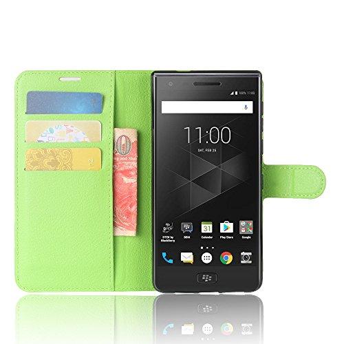 BlackBerry Motion Funda Faux Cuero Billetera Funda para BlackBerry Motion con Stand Función(Negro) Verde