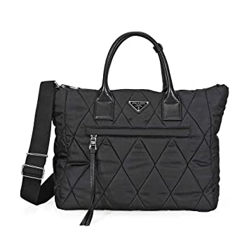 b9e34f67add Amazon.com  Prada Women s Quilted Nylon Tote Bag Black  TheLuxuryClub