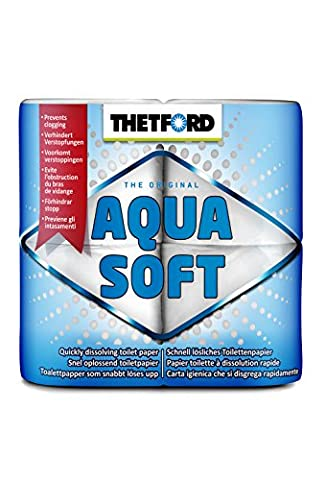 Thetford Aqua Soft Toilet Rolls for Porta Potti, 4 rolls