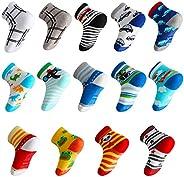 Lictin 14 Pairs Anti-slip Baby Socks Baby Infants Socks Unisex Socks Animal Print Socks Gift for 1-3 Years Bab