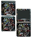 Avengers 3 Spider Man Hulk Iron Hawkeye Thor Black Widow Thanos Age of Ultron Video Game Vinyl Decal Skin Sticker Cover for Nintendo GBA SP Gameboy Advance System