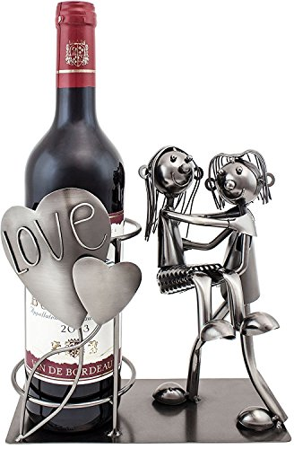 "BRUBAKER Wine Bottle Holder Statue ""Love Couple, Carrying Wife Over The Threshold"" Sculptures and Figurines Decor & Vintage Wine Racks and Stands Gifts Decoration For Sale"