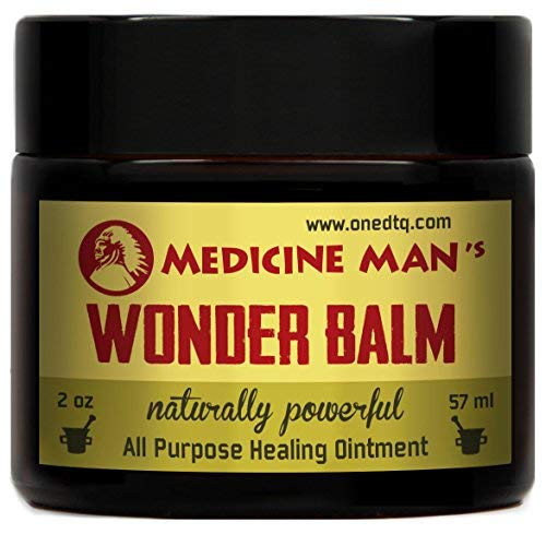 Medicine Man's Wonder Balm - All Purpose Healing Ointment 2 oz - Natural Formula for Itchy, Scaly or Cracked Skin - Good as Fungus Infection Treatment, Skin Rash Cream, Psoriasis, Athletes Foot Care (Best Treatment For Penile Psoriasis)