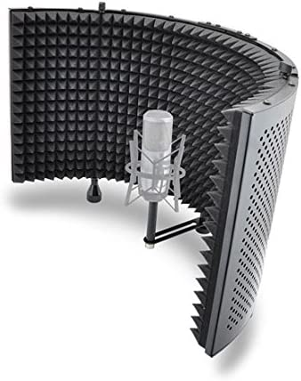 Studio Microphone Foam Shield Soundproofing Acoustic Panel Soundproof Filter | Sound Diffusion Mic Booth Shield | Insulation Diffuser Noise Deadening Absorbing for Audio Music Recording By Pyle (PSMRS11)