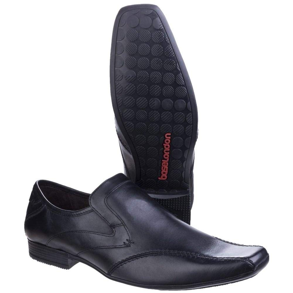 Base London Mens Sphere Excel Excel Excel Formal Waxy Leather Slip-On Loafer schuhe  095449