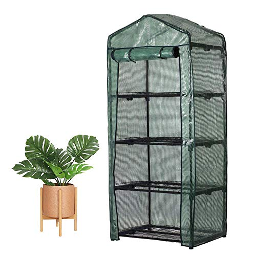 Windyus 4 Tier Mini Greenhouse Replacement Cover Outdoor Portable Walk-in Greenhouse PE Cover Tier Home Plant Greenhouse Tent ()