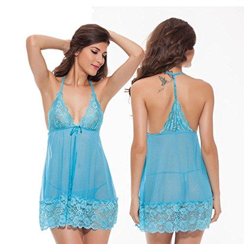 Dentelle Femmes Babydoll Lingerie Sexy Vêtements De Nuit Robe Bracelet Transparent Nightwea