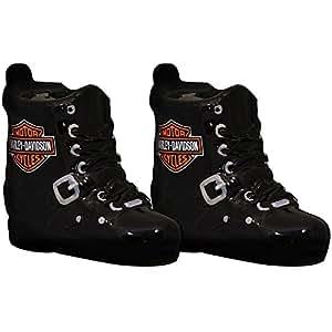Harley Davidson Boot Shaker Set - Handpainted Ceramic Salt And Pepper Outfit