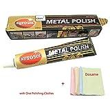 Autosol Metal Polish 3.33 oz.(75ml) Copper Brass Alumium More Polishing Clothes