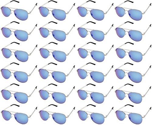 AVIATOR SUNGLASSES - Classic & Stylish Retro Sunglasses Bulk Wholesale (24 Pack) by Sunscape