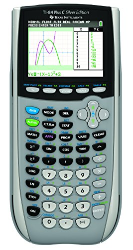 Texas Instruments 84PLSEC/TBL/1L1/L Graphing Calculator, Sliver by Texas Instruments