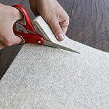 """Rug Pad USA, 1/4"""" Thickness, 8'x10', Eco Plush Felt Rug Pads- Preserve Rug, Protect Floor"""