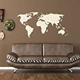 Style and Apply 1092, 94in x 47in World Map Wall Decal, 94'' x 47''