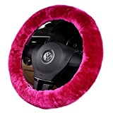 honda civic steer wheel - Doshop Wool Cashmere Furry Fluffy Steering Wheel Cover Soft Winter Warm Super Feeling Furry Plush Vehicle Car Steering Wheel Covers Gloves