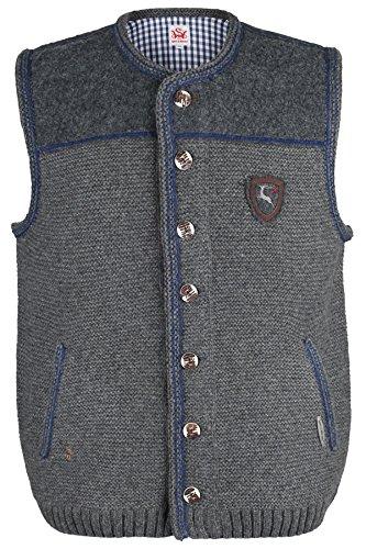 Herren Spieth & Wensky Trachten Strickweste grau-blau 'Finn', grau-blau, XL