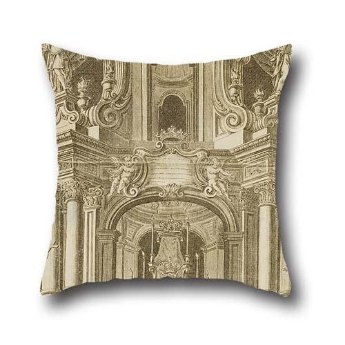 The Oil Painting Ignasi Valls - Tomb Of Philip V Pillow Shams Of ,18 X 18 Inches / 45 By 45 Cm Decoration,gift For Kids Room,wife,boy Friend,kids Boys,teens,pub (both (Comp Cylinder)