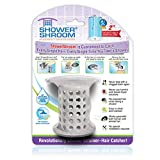 """ShowerShroom the Revolutionary 2"""" Stand-Up Shower Stall Drain Protector Hair Catcher/Strainer, Gray"""