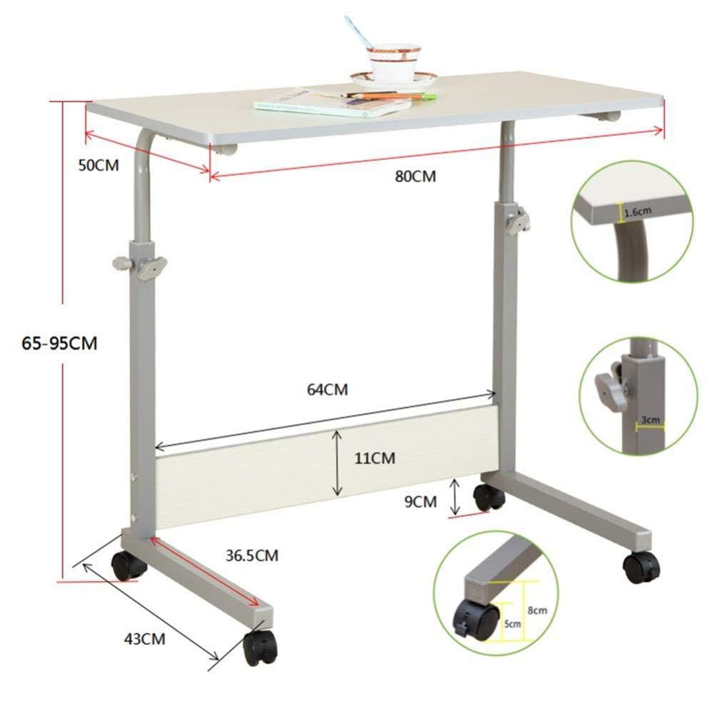 A 60  40cm (24  16 Zoll) CZZ Computertisch, Einstellbarer Einfacher Computertisch, Multifunktions-Lern- Und Pflegetisch, Faltbar, 3 Größen