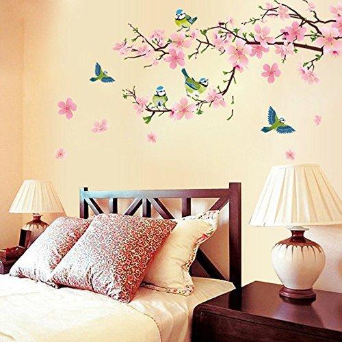 Dingoo extraíble de León mariposa Adhesivo vinilo decorativo para salón o dormitorio murales adhesivos de pared