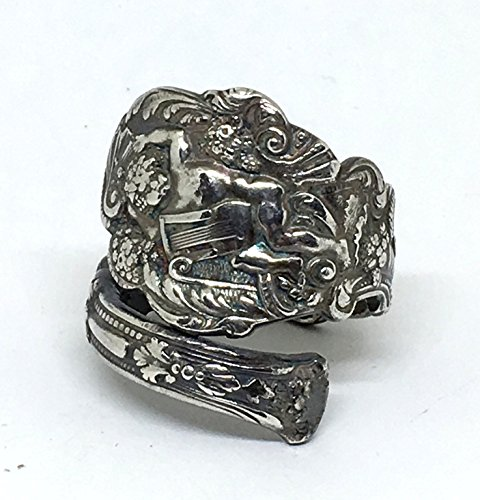 Cupid Antique (Sterling Silver Cupid Upcycled Antique Spoon Ring)