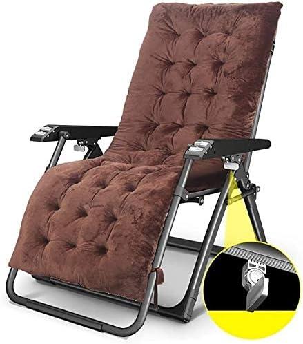 ADHW Reclinable, sillas reclinables Exterior, jardín al Aire Libre Mecedora Silla de relajación, Silla Acolchada un Solo Brazo, Fundas de Cojines sillón reclinable (Color : Brown): Amazon.es: Hogar