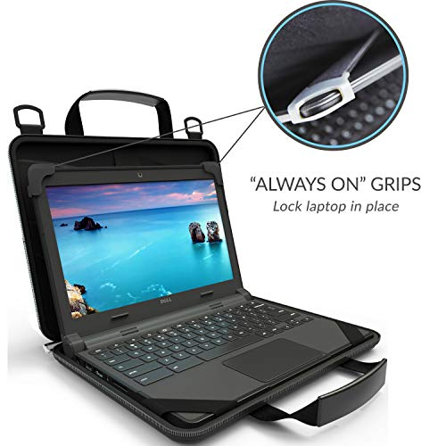 UZBL 11-11.6 inch EVA Always On Work-in Protective Laptop Sleeve and Case with Carrying Handle and Strap for Chromebook, Ultrabook and Notebooks, Designed for Students, Classrooms and Business by UZBL (Image #2)