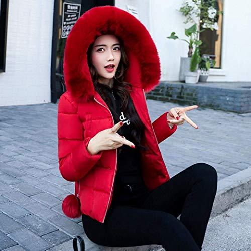 Hiver Manches Manteau Fourrure El Longues Doudoune Capuchon Slim avec Femme Fit Doudoune Fashion pO45nqAx4
