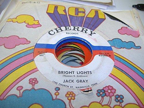 JACK GRAY 45 RPM Bright Lights / Hand On The Clock