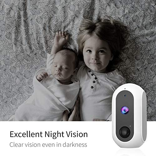 Home Security Camera, Wireless Rechargeable Battery Powered Outdoor&Indoor Wi-Fi Camera with 1080P Night Vision,PIR Motion Detection, Two-Way Audio, IP65 Waterproof, Support Cloud/SD Slot