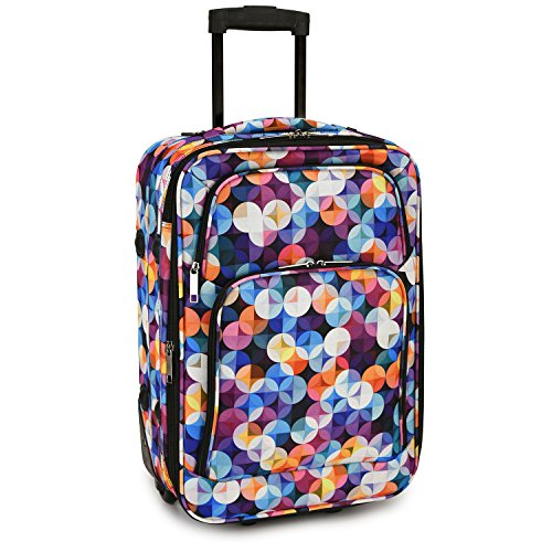 Elite Luggage Gem Bubbles Carry-on Rolling Luggage, Multi-color