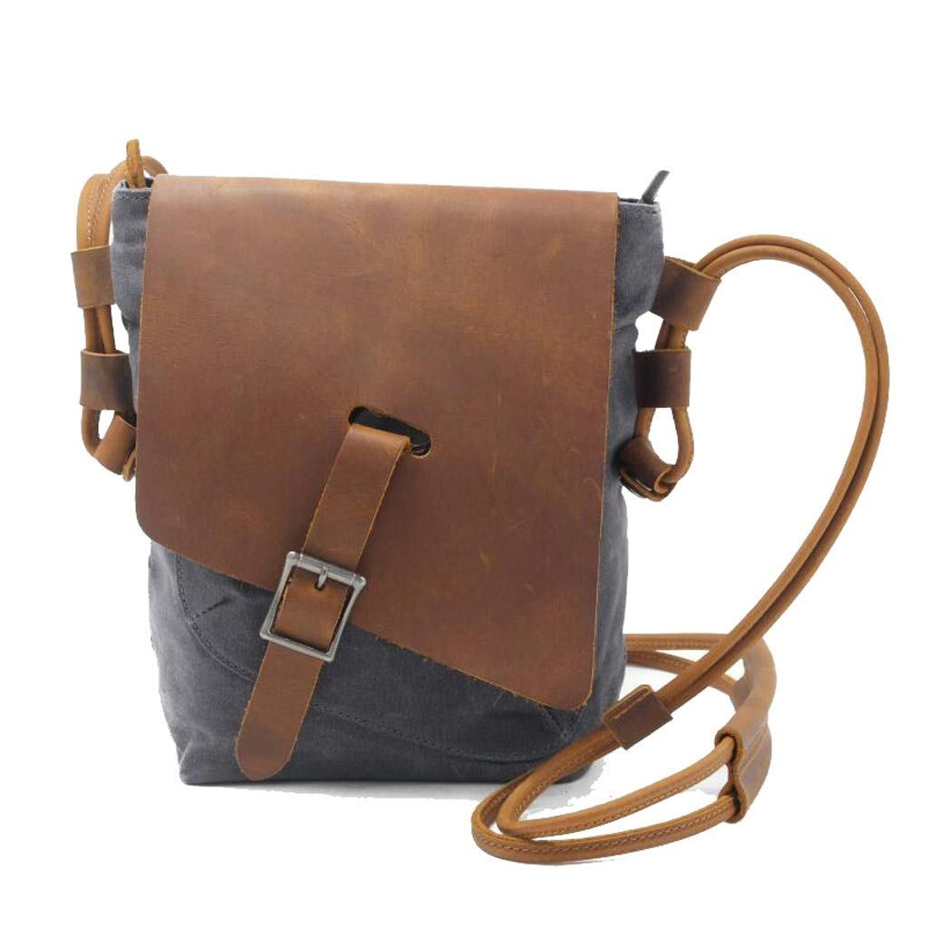 Mens Messenger Shoulder Bag Vintage Waterproof Canvas Briefcase For Daily School Work 7.084.1310.62 Inches L W H