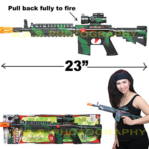 Machine Guns Assault (M4 Machine Gun Friction Toy Gun, Perfect for Kids, No Batteries Required)