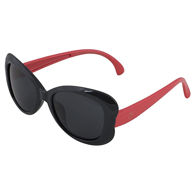 7acfa85670 Kids Flexible Rubber Sunglasses for Boys and Girls - Red and Black  Butterfly Shape Bendable and