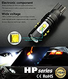 JDM ASTAR Extremely Bright Max 50W High Power 912 921 LED Bulb For Backup Reverse Lights, Xenon White