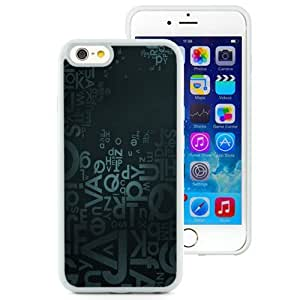NEW Unique Custom Designed iPhone 6 4.7 Inch TPU Phone Case With Letters Blue Background_White Phone Case