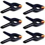 #8: LimoStudio 6 PCS Black Nylon Muslin/Paper Photo Backdrop Background Clamps, 3.75 inch, AGG1242