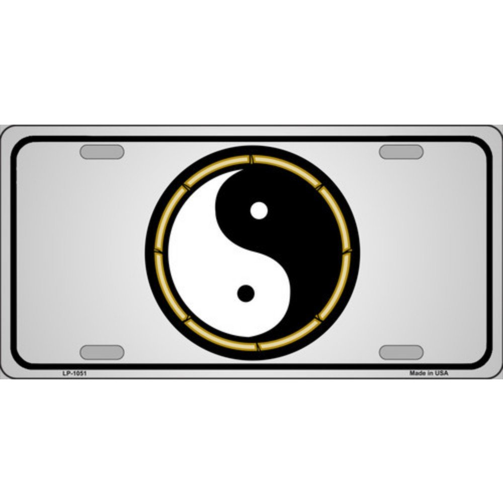 Smart Blonde Yin and Yang Novelty Vanity Metal License Plate Tag Sign SMRTB369