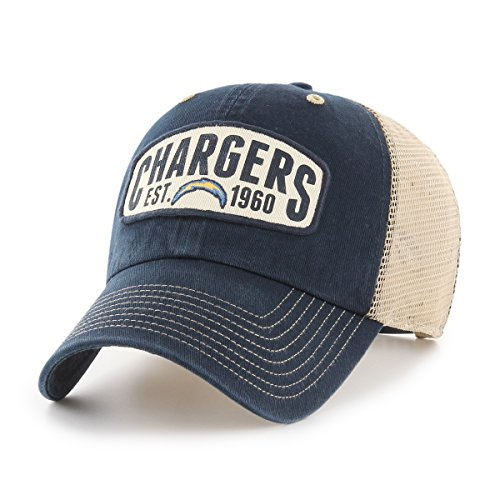 NFL Los Angeles Chargers Woodford OTS Challenger Adjustable Hat, Navy, One Size