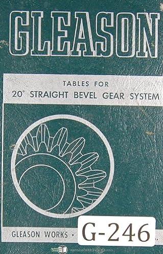 gleason 20 degree straight bevel gear system tables manual year rh amazon com Worm Gear Worm Gear