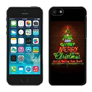 Provide Personalized Customized Iphone 5C TPU Case Merry Christmas happy new year Black iPhone 5C Case 2