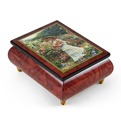 Handcrafted Ercolano Music Box With Painted Scene