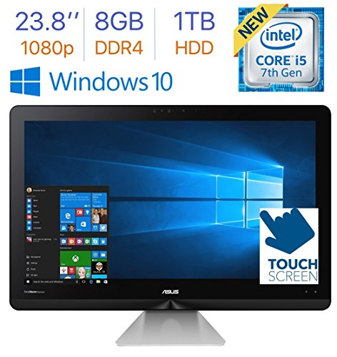 2017 Newest Asus Zen 23.8'' Touchscreen FHD (1920x1080) All-in-One Desktop PC, 7th Gen Intel i5-7200u 2.5GHz, 8GB DDR4 RAM, 1TB HDD, SonicMaster Premium Stereo Speaker, Bluetooth, HDMI, Windows 10
