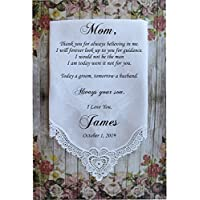 Mother of the Groom handkerchief, custom PRINTED wedding Handkerchief, Mother of the Groom Gift from Groom,Personalized-LS11ChoMon[A2]