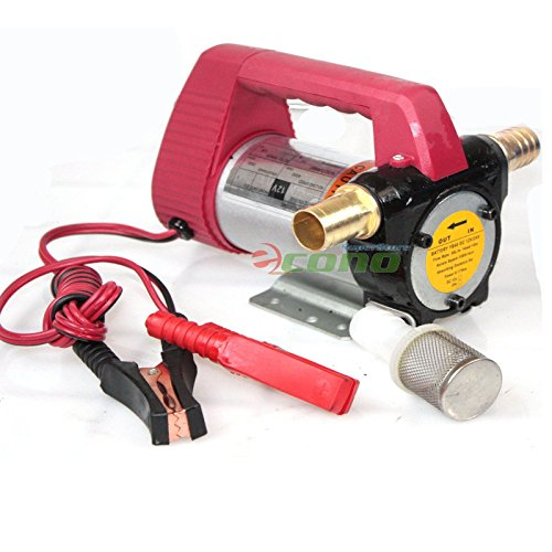 12 Volt Motor Self Priming Oil Fuel Transfer Extractor 12v Pump W/brass Adapters ()