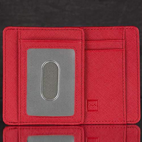 79aab874ac0c2 Mercor Premium Brieftasche flach für Herren mit RFID Schutz - Sicheres  Kreditkarten-Etui aus PU Leder - Stabiles ...