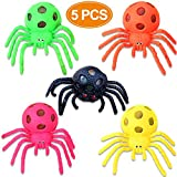 BeaFancy 5 Pack Mesh Stress Toys Ball Spider Mesh Squeeze Stress Relief Balls Fidget Toy for Boy Girl Kids Adult Autism Halloween Risk-Free Sensory Rubber