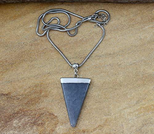 Colar de pedra estrela triangulo bijuterias acessorios moda